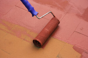 Painting pavers with Paving Paint